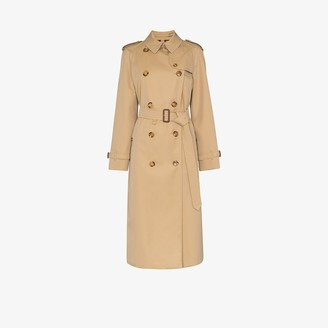 Burberry Waterloo belted cotton trench coat