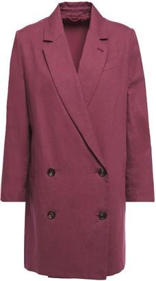 Brunello Cucinelli Double-breasted Linen And Cotton-blend Blazer