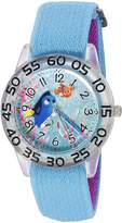Disney Girl's 'Finding Dory' Quartz Plastic and Nylon Automatic Watch, Color: (Model: W003016)