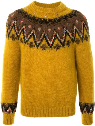 Coohem Intarsia-Knit Crew Neck Jumper