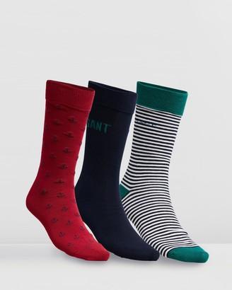 Gant 3-Pack Mixed Giftbox Socks