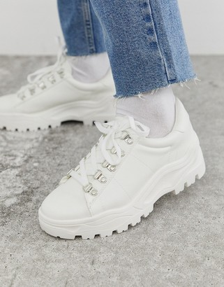 New Look cleated chunky trainers in white