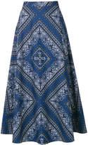 RED Valentino bandana print a-line skirt