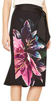 Oasis Lily Photographic Pencil Skirt, Multi