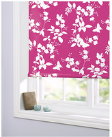 Butterfly and Pink Blossom Roller Blind - 6ft - White