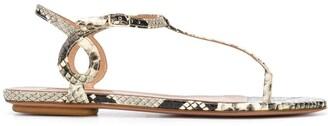 Aquazzura Snake Pattern Sandals