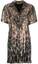 Marco De Vincenzo sequined leopard print polo dress