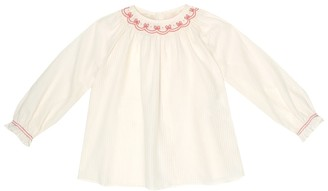 Gucci Kids Baby embroidered cotton-voile dress
