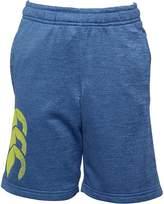 Canterbury of New Zealand Junior Graphic Fleece Shorts Mazarine Marl
