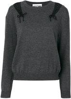 Moschino lace up sweater