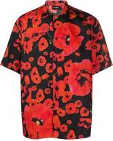 Les Hommes poppy print boxy shirt