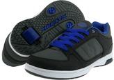 Heelys Double Threat (Little Kid/Big Kid/Men's) (Grey/Black/Blue) - Footwear