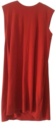 SET Red Cotton Dress for Women
