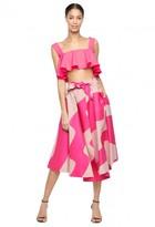 Milly Swirl Jacquard Jackie Midi Skirt