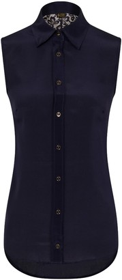 Sophie Cameron Davies Midnight Blue Lace Back Top