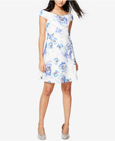 Rachel Roy Off-The-Shoulder Floral-Print Fit & Flare Dress