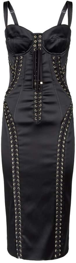 Dolce & Gabbana Eyelet Bodice Dress