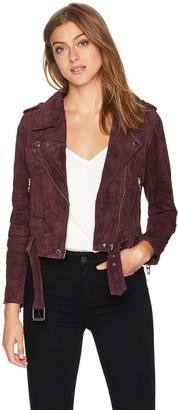 Blank NYC Women's Suede Moto Jacket Outerwear