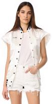 R 13 Sleeveless Varsity Vest