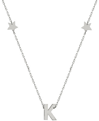 Jane Basch Silver Initial Necklace
