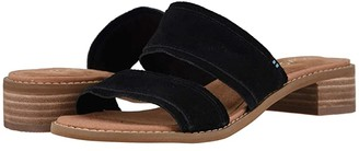 Toms Mariposa (Black Suede) Women's Sandals