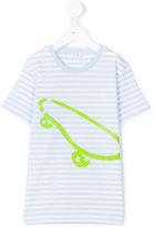Il Gufo striped skateboard print T-shirt - kids - Cotton/Spandex/Elastane - 8 yrs