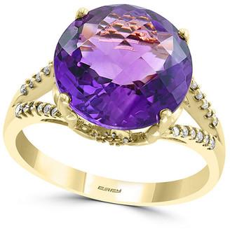 Effy Fine Jewelry 14K 5.48 Ct. Tw. Diamond & Amethyst Ring