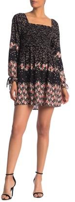 Luna Chix Floral Smocked Long Sleeve Mini Dress