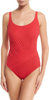 Gottex Landscape Solid One-Piece Swimsuit