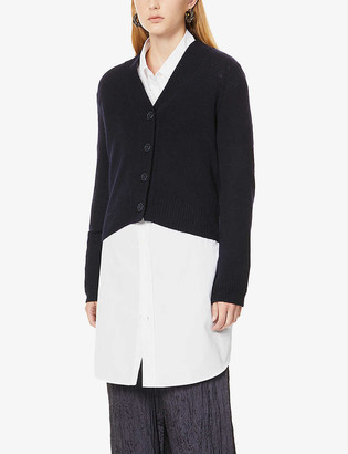 Vince Cropped V-neck cashmere cardigan