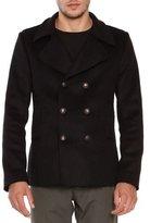 Tomas Maier Wool-Blend Pea Coat, Black