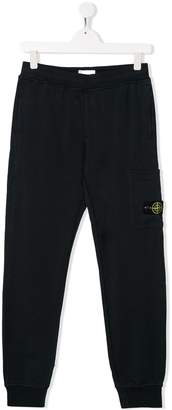 Stone Island Junior relaxed-fit compass badge track trousers