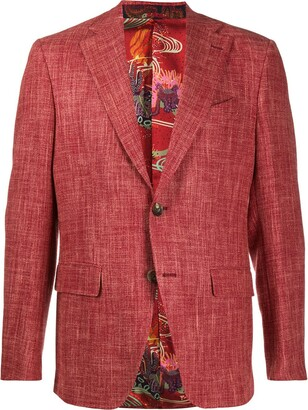 Etro Single-Breasted Regular-Fit Blazer
