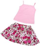 Coromose Baby Girls 2~8 years Summer Camisole Floral Short Skirt 1Set