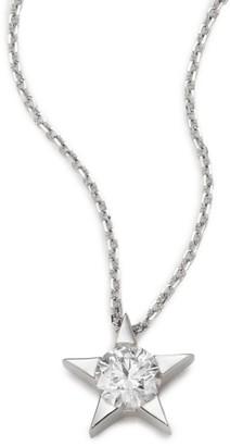 Hearts On Fire Illa Diamond & 18K White Gold Pendant Necklace