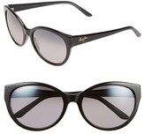 Maui Jim Women's 'Pools' 58Mm Polarized Sunglasses - Black/ Charcoal/ Neutral Grey