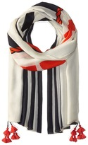 Tory Burch Oversized Nautical Logo Oblong Scarves
