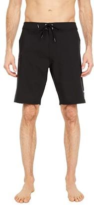 O'Neill Hyperfreak Solid Hawaii Boardshorts (Black) Men's Swimwear