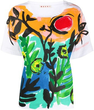 Marni paint printed T-shirt