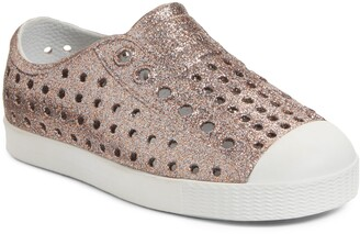 Native Jefferson Bling Glitter Slip-On Vegan Sneaker