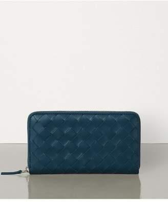 Bottega Veneta Medium Zip Around Wallet In Maxi Intreccio