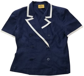 Fendi Blue Linen Jackets