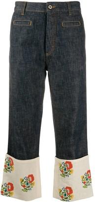Loewe paneled cropped jeans