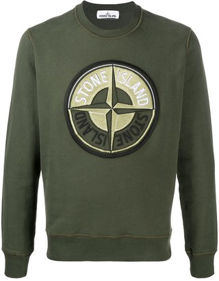 Stone Island Embroidered Logo Cotton Sweatshirt
