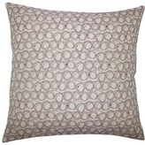 """Ladarius Throw Pillow The Pillow Collection Size: 18"""" H x 18"""" W x 5"""" D, Color: Blueberry"""