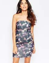 Oh My Love Bandeau Mini Bodycon Dress With Pockets
