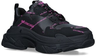 Balenciaga Faux Leather Triple S Sneakers