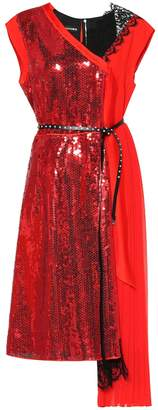 Marc Jacobs Sequinned and lace dress