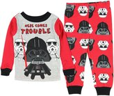 Star Wars Vader Here Comes Trouble Little Boys' Toddler 2 Piece Pajama Set (T)