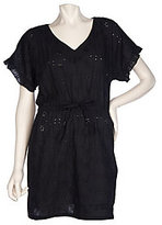 As Is RUYI Cotton Eyelet Cover-Up Tunic with Drawstring Waist